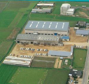本社新社屋、新工場の写真(空撮)