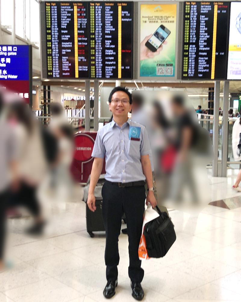 雷さんが空港で撮影した写真